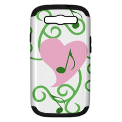 Sweetie Belle s Love Heart Music Note Leaf Green Pink Samsung Galaxy S Iii Hardshell Case (pc+silicone) by Alisyart