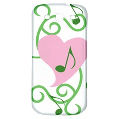 Sweetie Belle s Love Heart Music Note Leaf Green Pink Samsung Galaxy S3 S Iii Classic Hardshell Back Case by Alisyart