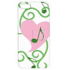 Sweetie Belle s Love Heart Music Note Leaf Green Pink Apple Iphone 5 Hardshell Case With Stand by Alisyart