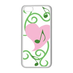 Sweetie Belle s Love Heart Music Note Leaf Green Pink Apple Iphone 5c Seamless Case (white) by Alisyart