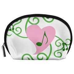 Sweetie Belle s Love Heart Music Note Leaf Green Pink Accessory Pouches (large)  by Alisyart
