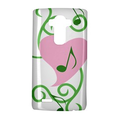 Sweetie Belle s Love Heart Music Note Leaf Green Pink Lg G4 Hardshell Case by Alisyart