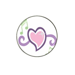 Sweetie Belle s Love Heart Star Music Note Green Pink Purple Hat Clip Ball Marker (4 Pack) by Alisyart