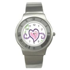 Sweetie Belle s Love Heart Star Music Note Green Pink Purple Stainless Steel Watch by Alisyart
