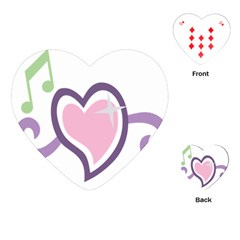 Sweetie Belle s Love Heart Star Music Note Green Pink Purple Playing Cards (heart)  by Alisyart