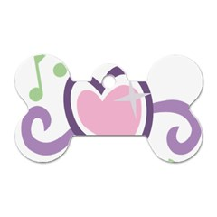 Sweetie Belle s Love Heart Star Music Note Green Pink Purple Dog Tag Bone (two Sides) by Alisyart