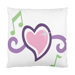 Sweetie Belle s Love Heart Star Music Note Green Pink Purple Standard Cushion Case (two Sides) by Alisyart