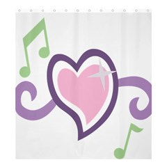 Sweetie Belle s Love Heart Star Music Note Green Pink Purple Shower Curtain 66  X 72  (large)  by Alisyart
