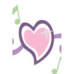 Sweetie Belle s Love Heart Star Music Note Green Pink Purple 5 5  X 8 5  Notebooks by Alisyart
