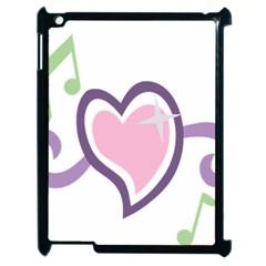 Sweetie Belle s Love Heart Star Music Note Green Pink Purple Apple Ipad 2 Case (black) by Alisyart