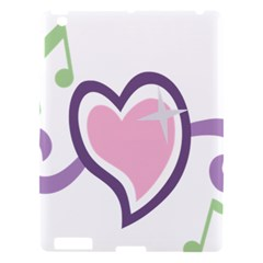 Sweetie Belle s Love Heart Star Music Note Green Pink Purple Apple Ipad 3/4 Hardshell Case by Alisyart