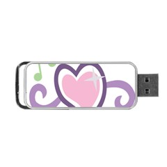 Sweetie Belle s Love Heart Star Music Note Green Pink Purple Portable Usb Flash (two Sides) by Alisyart