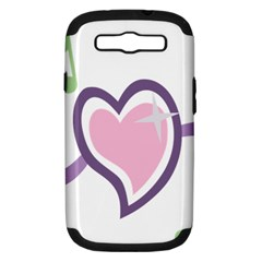 Sweetie Belle s Love Heart Star Music Note Green Pink Purple Samsung Galaxy S Iii Hardshell Case (pc+silicone) by Alisyart