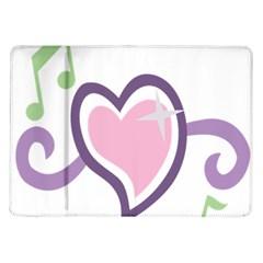 Sweetie Belle s Love Heart Star Music Note Green Pink Purple Samsung Galaxy Tab 10 1  P7500 Flip Case by Alisyart