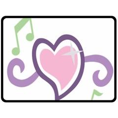 Sweetie Belle s Love Heart Star Music Note Green Pink Purple Double Sided Fleece Blanket (large)  by Alisyart