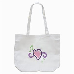 Sweetie Belle s Love Heart Star Music Note Green Pink Purple Tote Bag (white) by Alisyart