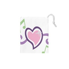 Sweetie Belle s Love Heart Star Music Note Green Pink Purple Drawstring Pouches (xs)  by Alisyart