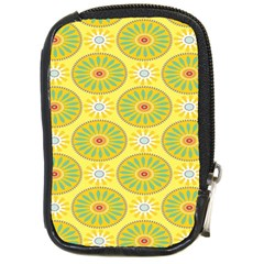 Sunflower Floral Yellow Blue Circle Compact Camera Cases by Alisyart