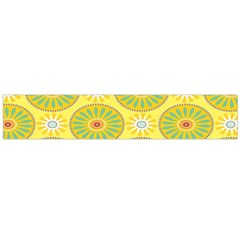 Sunflower Floral Yellow Blue Circle Flano Scarf (large) by Alisyart