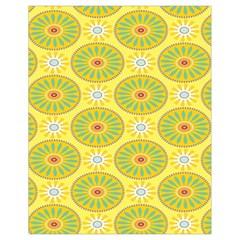 Sunflower Floral Yellow Blue Circle Drawstring Bag (small) by Alisyart