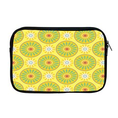 Sunflower Floral Yellow Blue Circle Apple Macbook Pro 17  Zipper Case by Alisyart