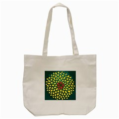 Sunflower Flower Floral Pink Yellow Green Tote Bag (cream) by Alisyart