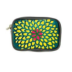 Sunflower Flower Floral Pink Yellow Green Coin Purse by Alisyart