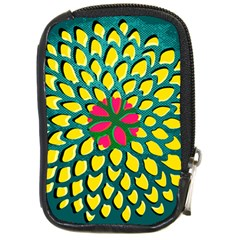 Sunflower Flower Floral Pink Yellow Green Compact Camera Cases by Alisyart