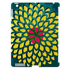 Sunflower Flower Floral Pink Yellow Green Apple Ipad 3/4 Hardshell Case (compatible With Smart Cover) by Alisyart