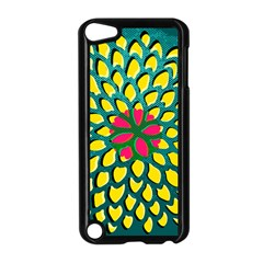 Sunflower Flower Floral Pink Yellow Green Apple Ipod Touch 5 Case (black) by Alisyart