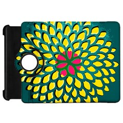 Sunflower Flower Floral Pink Yellow Green Kindle Fire Hd 7  by Alisyart