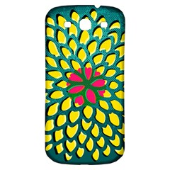 Sunflower Flower Floral Pink Yellow Green Samsung Galaxy S3 S Iii Classic Hardshell Back Case by Alisyart