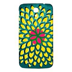 Sunflower Flower Floral Pink Yellow Green Samsung Galaxy Mega I9200 Hardshell Back Case by Alisyart