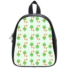 Tree Circle Green Yellow Grey School Bags (small)  by Alisyart