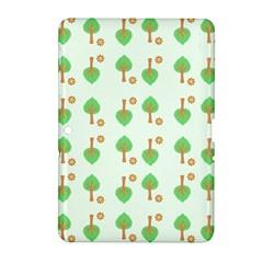 Tree Circle Green Yellow Grey Samsung Galaxy Tab 2 (10 1 ) P5100 Hardshell Case  by Alisyart