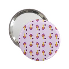Tree Circle Purple Yellow 2 25  Handbag Mirrors