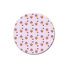 Tree Circle Purple Yellow Magnet 3  (round) by Alisyart