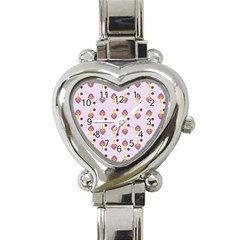Tree Circle Purple Yellow Heart Italian Charm Watch by Alisyart