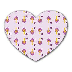 Tree Circle Purple Yellow Heart Mousepads by Alisyart