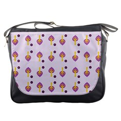 Tree Circle Purple Yellow Messenger Bags by Alisyart