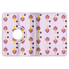 Tree Circle Purple Yellow Kindle Fire Hdx Flip 360 Case by Alisyart