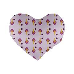 Tree Circle Purple Yellow Standard 16  Premium Flano Heart Shape Cushions by Alisyart