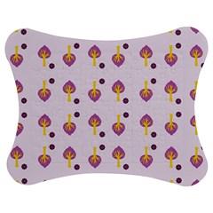 Tree Circle Purple Yellow Jigsaw Puzzle Photo Stand (bow) by Alisyart
