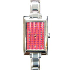 Roll Circle Plaid Triangle Red Pink White Wave Chevron Rectangle Italian Charm Watch by Alisyart
