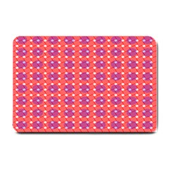 Roll Circle Plaid Triangle Red Pink White Wave Chevron Small Doormat  by Alisyart