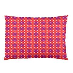 Roll Circle Plaid Triangle Red Pink White Wave Chevron Pillow Case (two Sides) by Alisyart