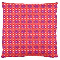 Roll Circle Plaid Triangle Red Pink White Wave Chevron Large Cushion Case (two Sides) by Alisyart