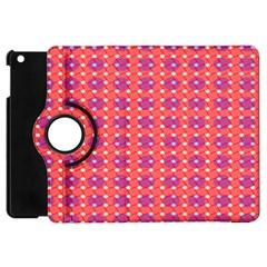 Roll Circle Plaid Triangle Red Pink White Wave Chevron Apple Ipad Mini Flip 360 Case by Alisyart