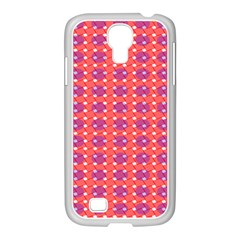 Roll Circle Plaid Triangle Red Pink White Wave Chevron Samsung Galaxy S4 I9500/ I9505 Case (white) by Alisyart