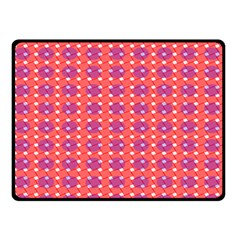 Roll Circle Plaid Triangle Red Pink White Wave Chevron Double Sided Fleece Blanket (small)  by Alisyart